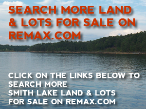 Search Remax land and lots for sale on Smith Lake
